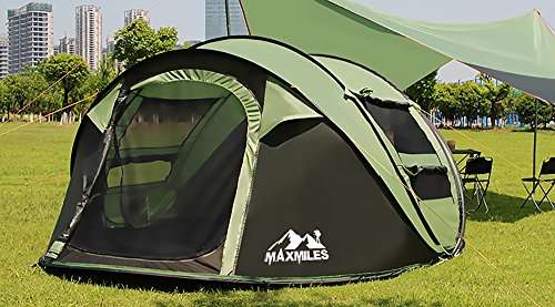 Save & MaxMiles 3 or 4 Person/Family-Size Tent - Premium Lightweight ...
