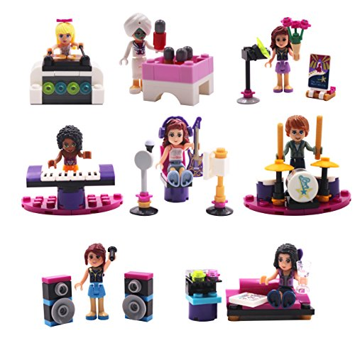 s,8Pcs Music Building Block Minifigures Set Christmas Gifts for Children (Style A) ()