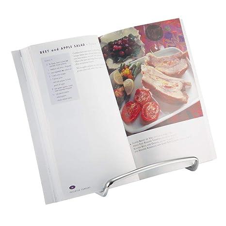 mDesign Atril de cocina para encimera – Soporte para libros de cocina útil para sujetar la