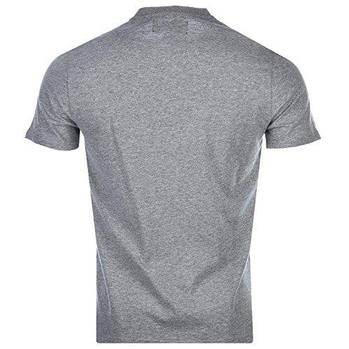 Original Penguin, Mega, Kreis-Logo, Herren-T-Shirt, grau-meliert