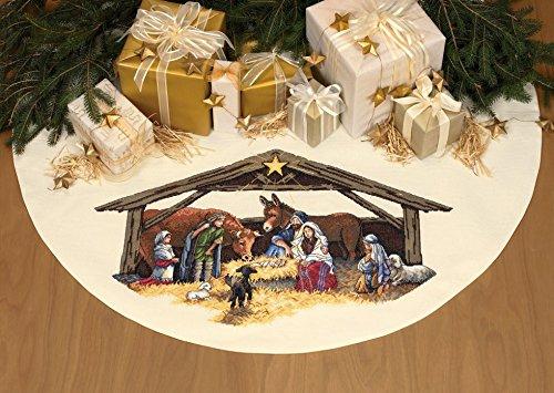 Dimensions Cross Stitch Kit Tree Skirt, Nativity ()