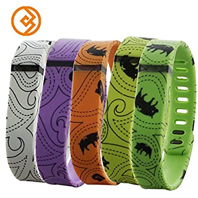 Bandcase Replacement Wristband Large or Small Size with Metal Clasp for Fitbit Flex Activity & Sleep Tracker (No Tracker)
