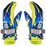 Kids Ski Gloves Warm Waterproof Outdoor Windproof Anti-Slip Thick Insulated