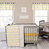 Trend Lab Buttercup Zigzag 3-Piece Crib Bedding Set, Yellow