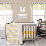 Trend-Lab-Buttercup-Zigzag-3-Piece-Crib-Bedding-Set-Yellow