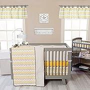 Trend Lab Buttercup Zigzag 3 Piece Crib Bedding Set, Yellow