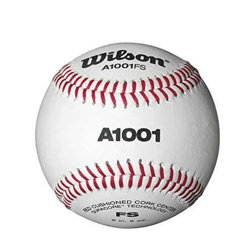 Wilson A1001 Flat Seem Baseball (1 Dozen) by Wilson