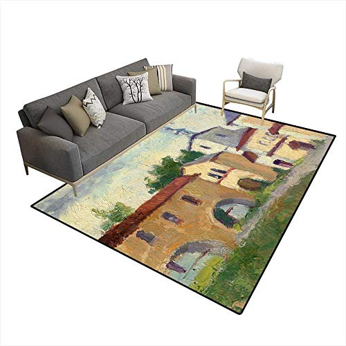 - Kids Carpet Playmat Rug Landscape Russian North Vologda Early Morning Sky Clouds Orthodox cathedrals