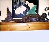 "26"" Cast Iron Mermaid Figure, Brown"