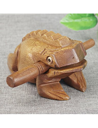 "3.5"" Wood Frog Guiro Wooden Frog Musical Instrument Wood Percussion"