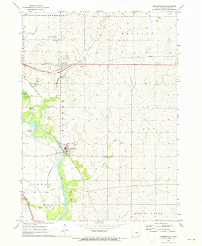 (YellowMaps Gilbertville IA topo map, 1:24000 Scale, 7.5 X 7.5 Minute, Historical, 1971, Updated 1973, 26.9 x 22 in - Paper)