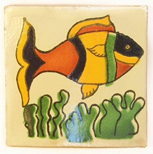 10,5 cm Carrelage en c/éramique mexicaine Lot de 25 fait /à la main et /éthiquement n/égoci/é par Tumia LAC
