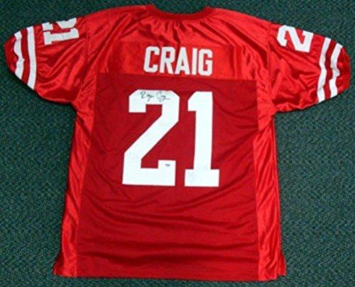 Roger Craig Autographed Nebraska Cornhuskers Red Jersey PSA/DNA