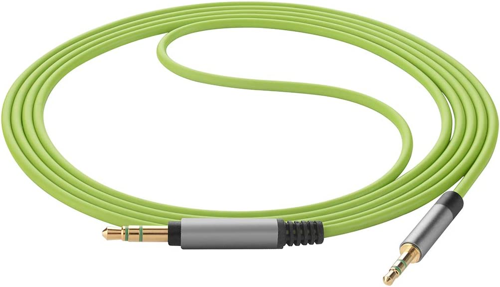 NC 700 Geekria QuickFit Replacement Audio Cable for Bose Noise Cancelling Headphones 700 Headphones NCH 700 Work with 3.5MM Audio Device. 5.5FT, Green 3.5mm to 2.5mm Male Stereo Cord