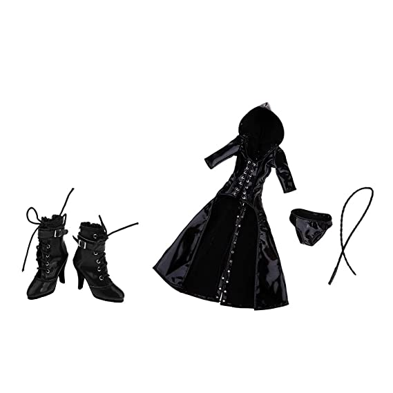 7e5ca8167d733 Amazon.com: Flameer 1/6 Scale PU Leather Clothing Lady Gothic ...
