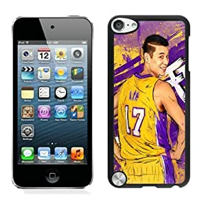 New Custom Design Cover Case For iPod Touch 5th Generation LA Lakers Jeremy Lin 1 Black Phone Case
