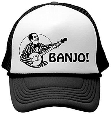 HIPSTER BANJO - Unisex Adult Trucker Cap Hat