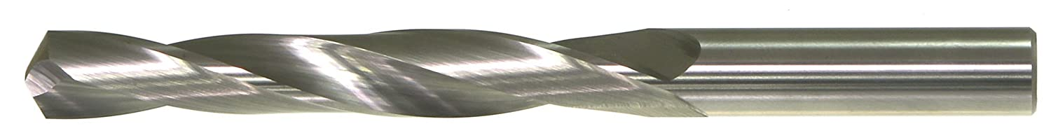 Spiral Flute 118 Degree Conventional Point Uncoated Bright Finish #46 Size Drillco 700 Series Solid Carbide Jobber Length Drill Bit Round Shank