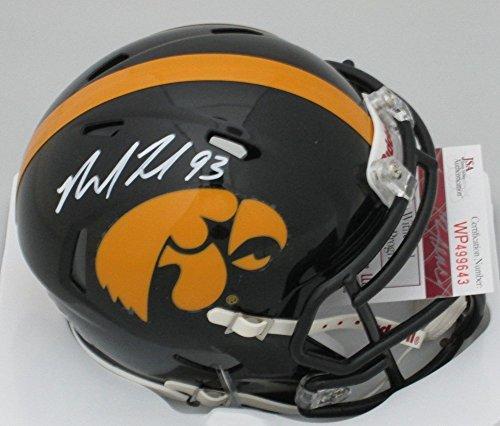 - Autographed Iowa Hawkeyes Mike Daniels #93 Signed Riddell Mini Helmet Signature- Packers - JSA Certified