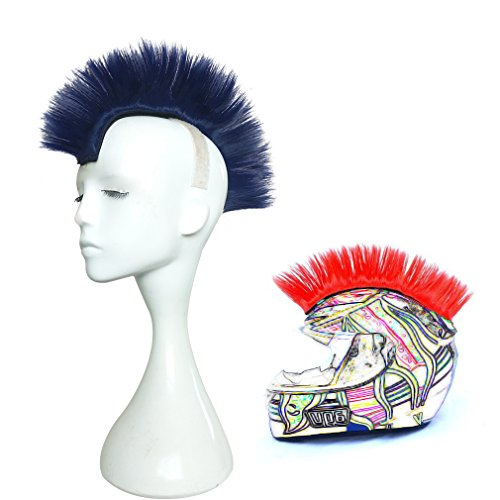 Namecute Skinhead Wig Blue Helmet Mohawk Wig Costumes Hairpiece