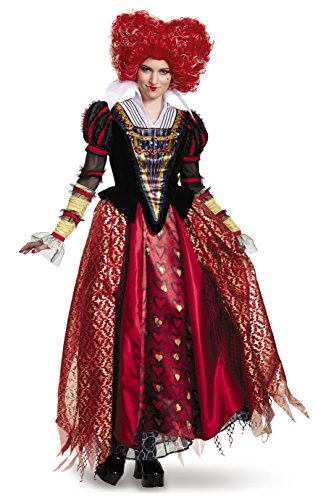 2016 Alice Wonderland Costume In (Disney Women's Alice Queen Prestige Costume, Red,)