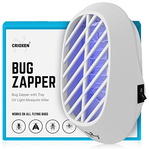 Crioxen Indoor Plug-in Bug Zapper - Mosquito Trap with UV Light - Indoor Mosquito Killer - Electric Insect Repellent - Gnat Trap for Mosquitoes Fruit Flies and Flying Gnats