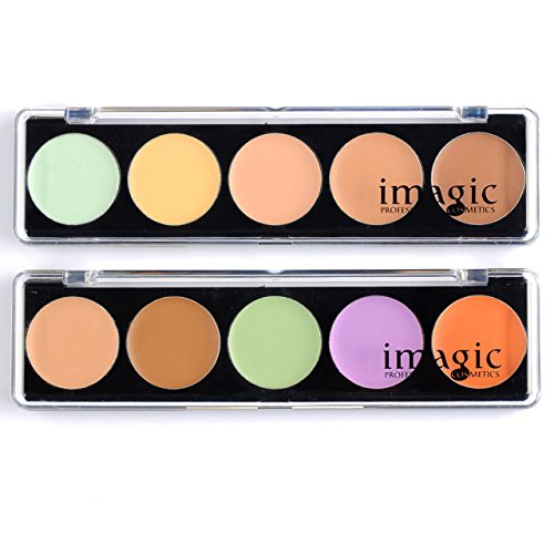 CCbeauty Concealer Palette 10 Colors Foundation Makeup Palette Concealer Camouflage Palette Contour Kit Face Makeup 2 Case