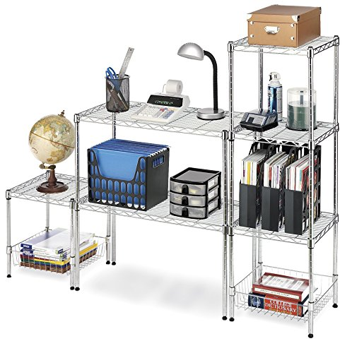 Whitmor Supreme Stacking Shelf and Organizer - Adjustable - Chrome by Whitmor (Image #5)