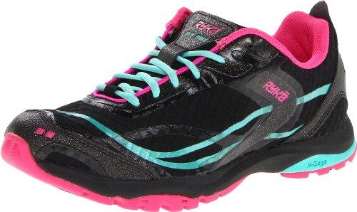 Ryka Women's Fit Pro Cross-Training Shoe,Black/Aqua/Dark Pink,5 M (Ryka Aqua)
