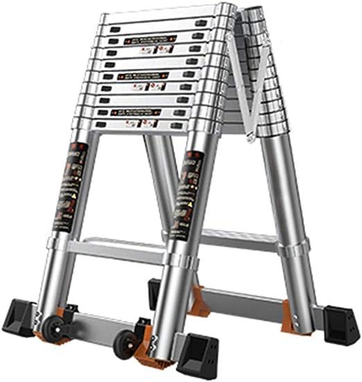 Escalera extensible/ Escalera telescópica Escalera telescópica de ático - Escaleras de extensión Plegables de Aluminio para Trabajo Pesado, para la Oficina de Loft en el hogar, Soporte 150 kg: Amazon.es: Hogar