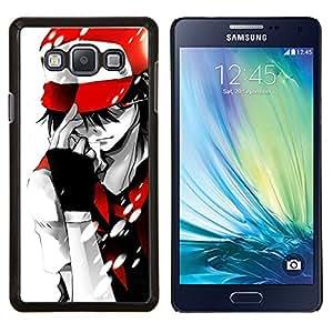 Caucho caso de Shell duro de la cubierta de accesorios de protección BY RAYDREAMMM - Samsung Galaxy A7 A7000 - Empuje Monster