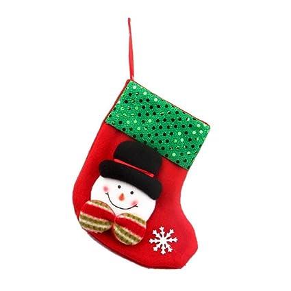 qiancheng Juego de calcetines de Navidad colgante de árbol de Navidad año nuevo Navidad accesorios de