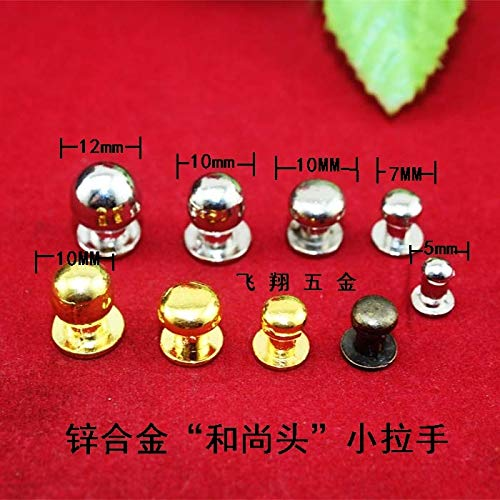 Mini Drawer Knobs Sliver Super Mini Small Handle Nail Pacifier Jewelry Box Drawer Handles knobs White Head Monk Decoration by AloPW