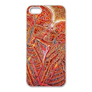 Custom Alex Grey Love Kiss Art Apple Iphone 5 and 5s Hard Case Cover phone Cases Covers by ruishername