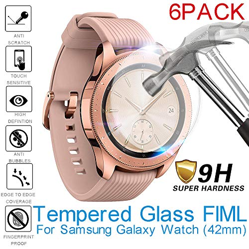 - 3PC/6PC Screen Protector-Becoler 2.5D Tempered Glass Screen Protector Full Cover Film for Samsung Galaxy Watch 42mm
