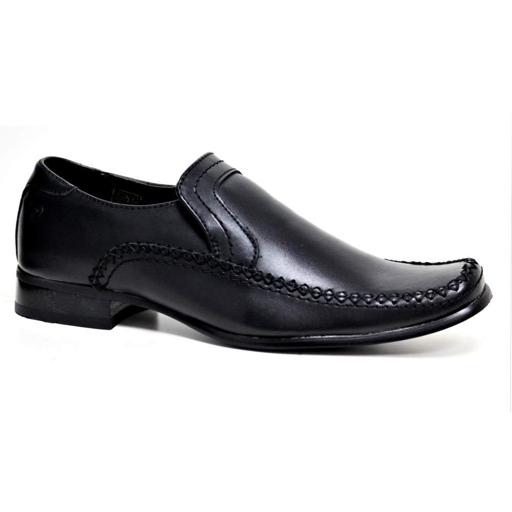 Mens Gents Slip On Upper Leather Wedding Office Formal Smart Dress Brown Shoes Business-schuhe Kleidung & Accessoires