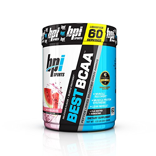 BPI Sports Best BCAA - BCAA Powder - Branched Chain Amino Acids - Muscle Recovery - Muscle Protein Synthesis - Lean Muscle - Improved Performance - Hydration - Watermelon Ice - 60 Servings, 1.32 Pound