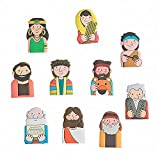 Fun Express Bible Character Figure Finger Puppets - 10 Pieces