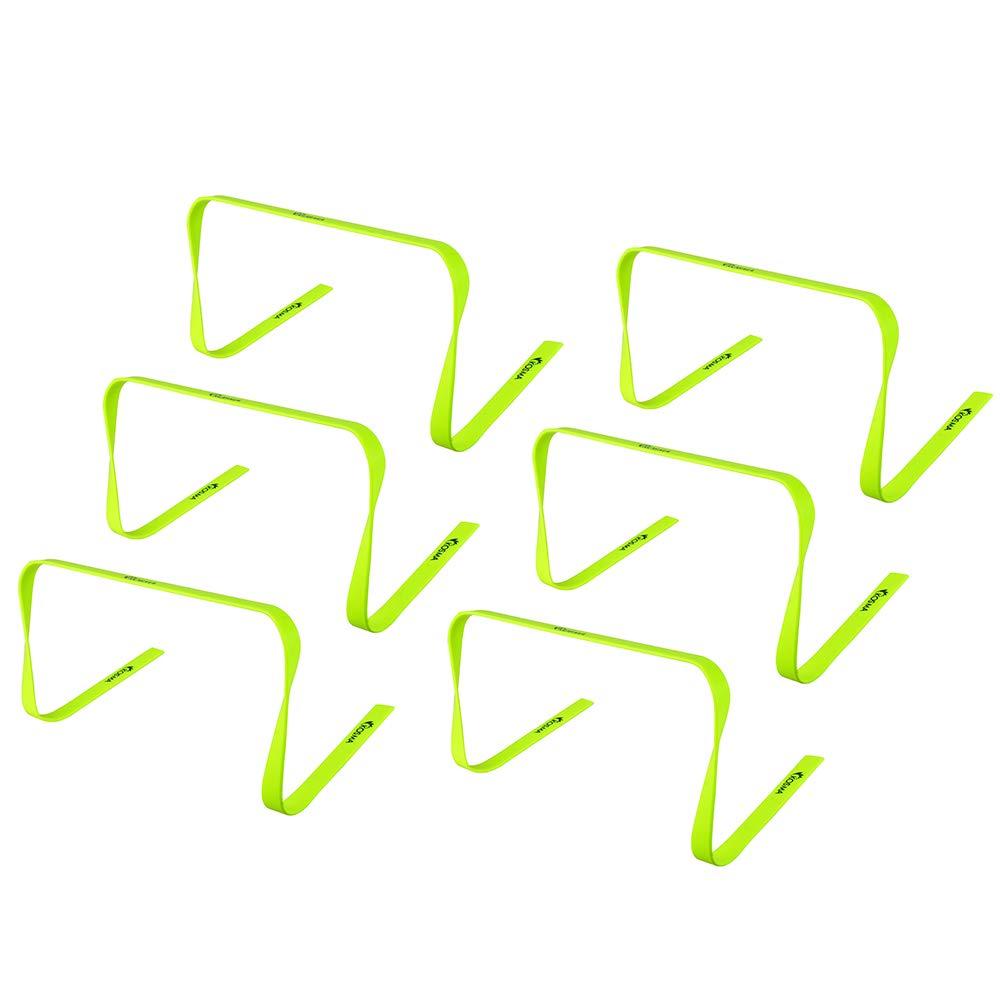 dimensioni 12 pollici Kosma Set di 6 ostacoli per lallenamento fitness Multi-Sport Speed Training