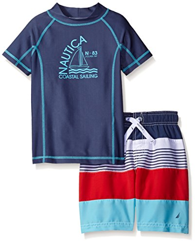 Nautica Boys' Rashguard Set with UPF 50+ Sun