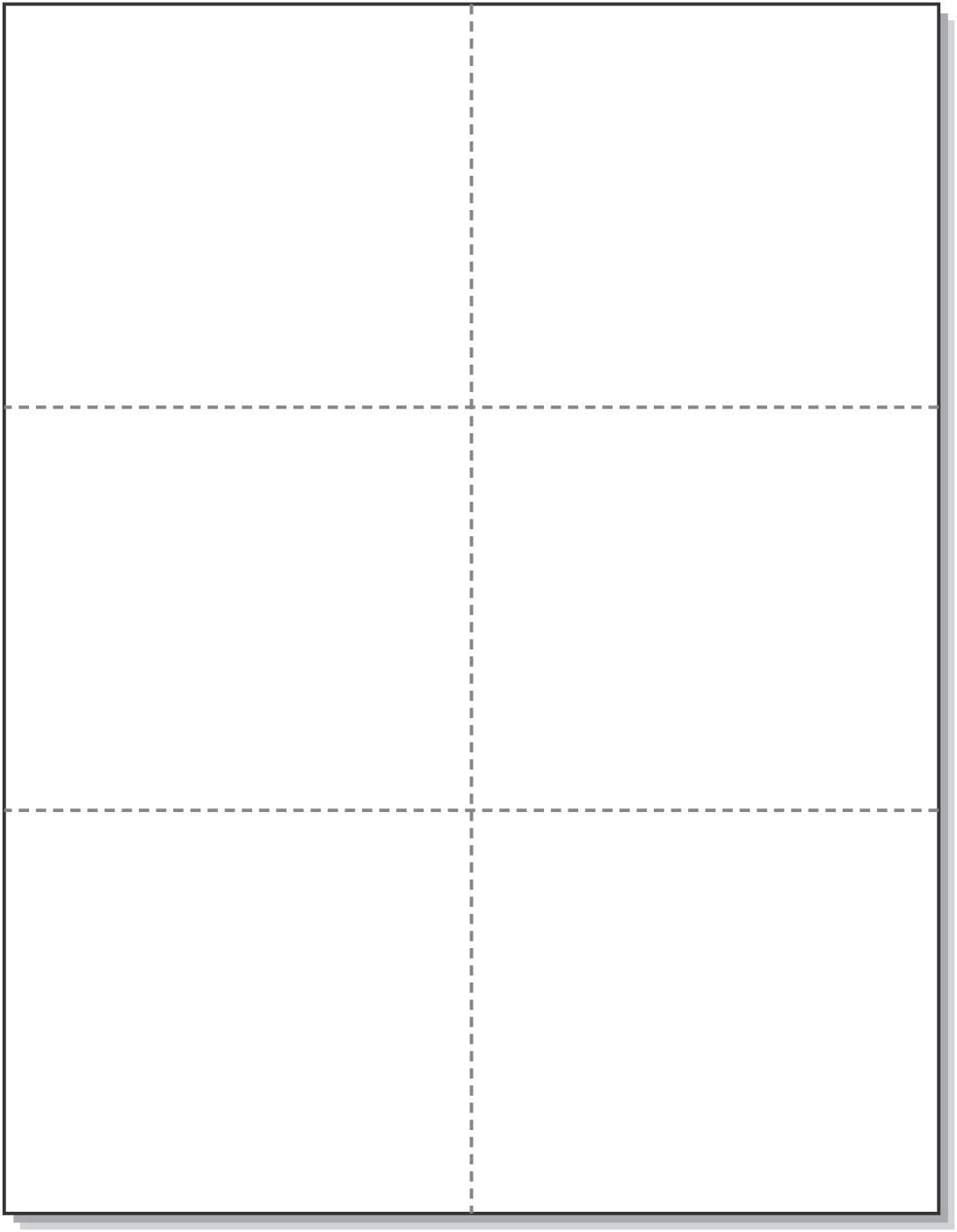 Laser Printer Blank Perforated Cards 6 up per Page, for School Registration Cards, Flower Delivery Cards, Inventory Tags, Wedding Response Cards, RSVP Cards, Trip Tickets, ETC. (300 White Cards): Office Products