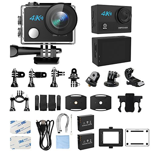 51NnK%2Bikz1L - DBPOWER N5 4K Action Camera, 5X Zoom HD action cam 20MP Sony Sensor Sports Camera, EIS Wi-Fi 98FT Underwater Camera with 170° Wide-Angle Lens Including 2 Rechargeable Batteries and 17 Accessories Kit