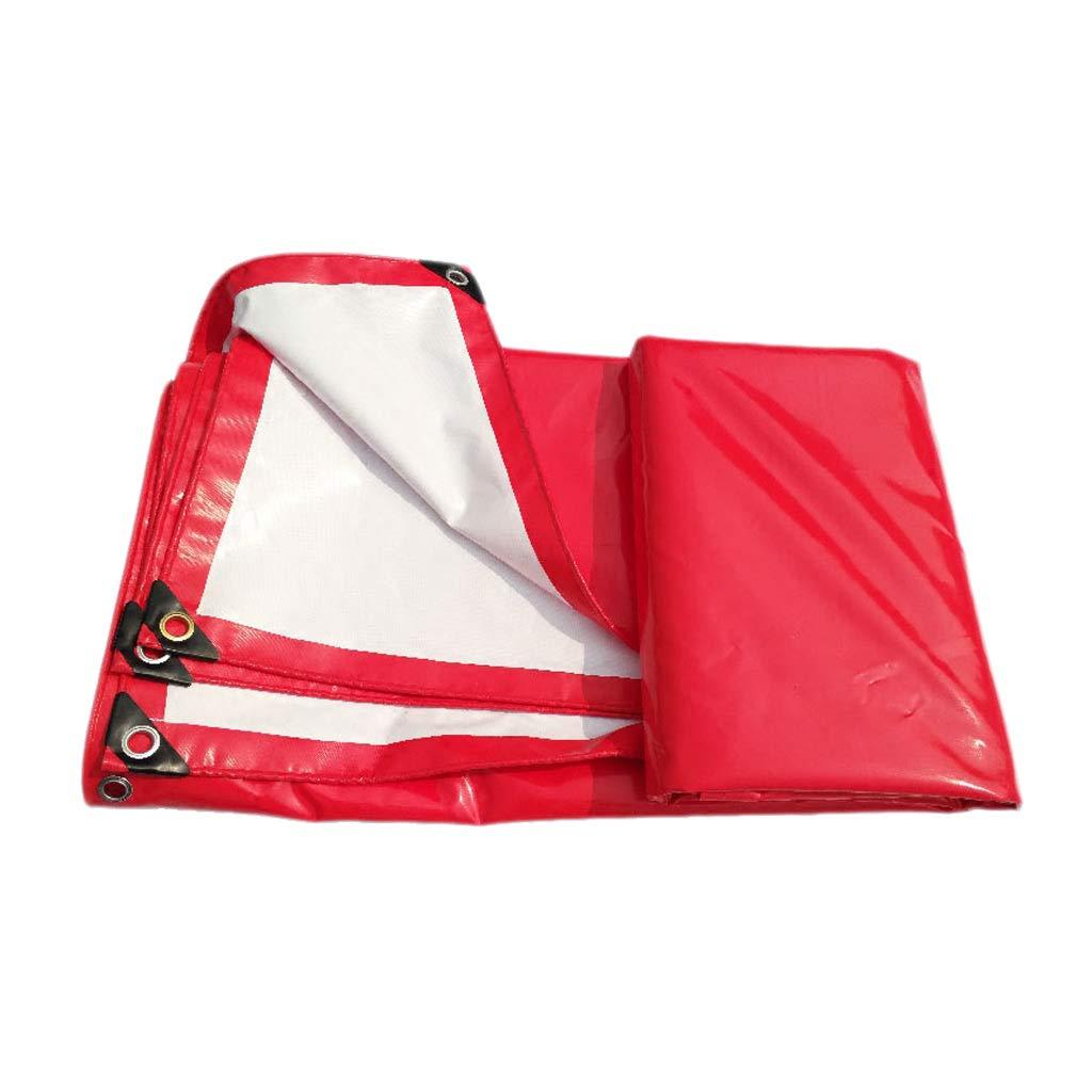 Wasserdichte Plane, PVC-regendichte Sonnencreme-Tragbare Plane, rot, Multi-Größe optional