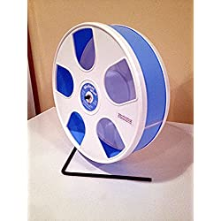 SUGAR GLIDERS U.S.A. 11' WODENT EXERCISE WHEEL FOR SMALL ANIMALS WHITE W. LT. BLUE