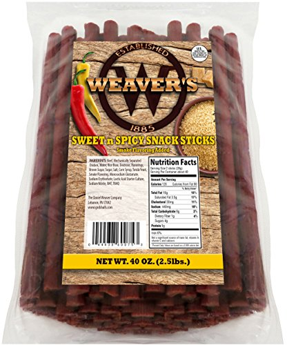 Weaver S Sweet N Spicy Snack Sticks 80 Sweet Amp Spicy 6 5