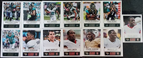 2014 Score Football Jacksonville Jaguars Team Set In a Protective Case - 13 Cards Including Paul Posluszny, Blake Bortles RC, Marquise Lee RC, Allen Robinson RC, Toby Gerhart, Marcedes Lewis, Ace Sanders, Chad Henne, Storm Johnson RC, Chris Smith RC, Tevin Smith RC, Cecil Shorts III, and Justin Blackmon.
