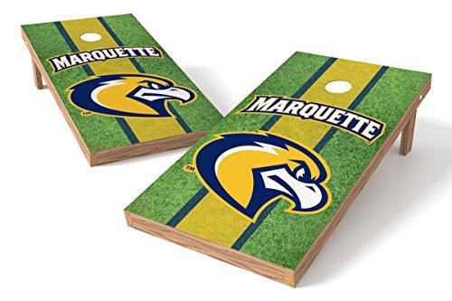 (Wild Sports NCAA College Marquette Golden Eagles 2' x 4' Field Authentic Cornhole Game Set)