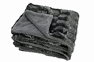 Chanasya Super Soft Fuzzy Fur Elegant Faux Fur Rectangular Embossed Pattern with Fluffy Plush Sherpa Cozy Warm Microfiber Throw Blanket from PurchaseCorner