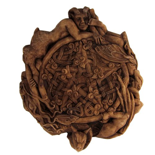 Small Faerie Pentacle Wall Plaque Wood Finish - Pentacle Wall