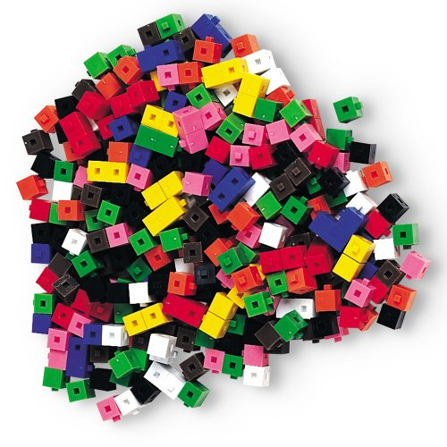 - Learning Resources Interlocking Gram Unit Cubes, Set of 1,000, Ages 6+